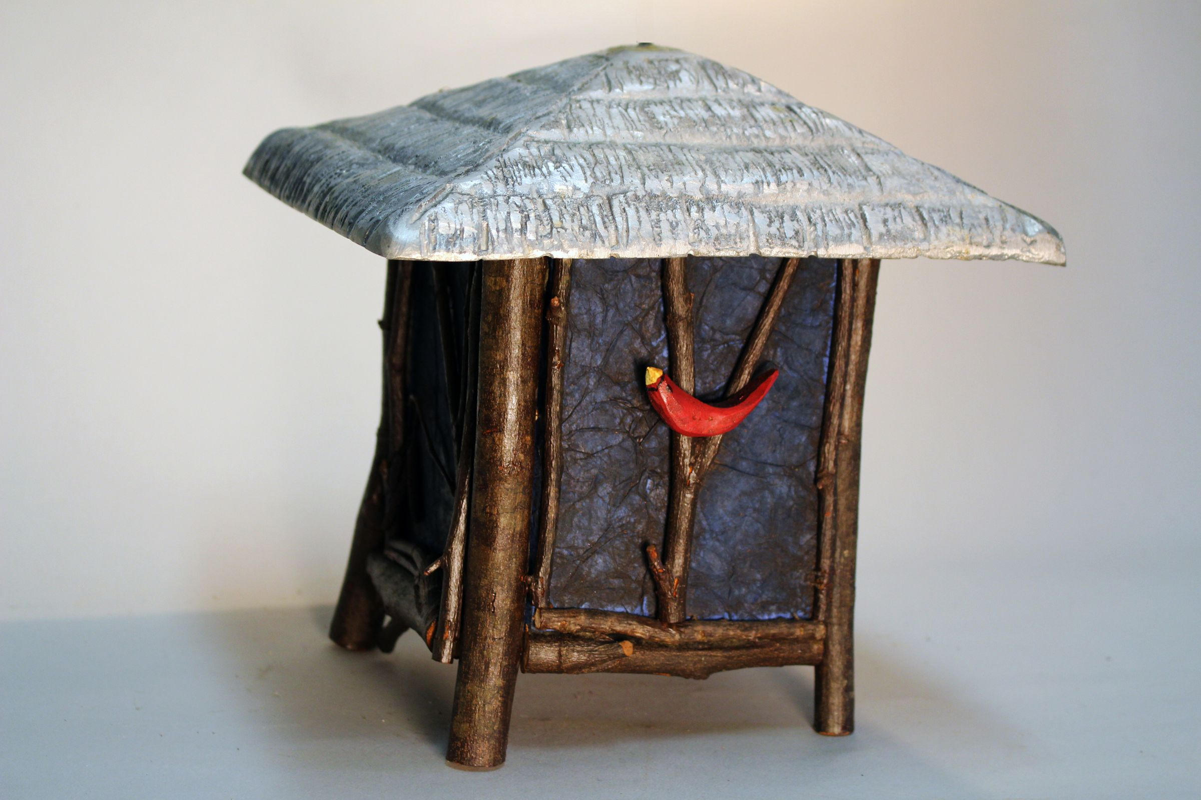 TREE HOUSE, a Whimsical, Uniquely Creative Small or Sharing Cremation Art Urn for Human or Pet Ashes