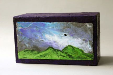 Purple Sky Cremation Urn a hand made work of art.