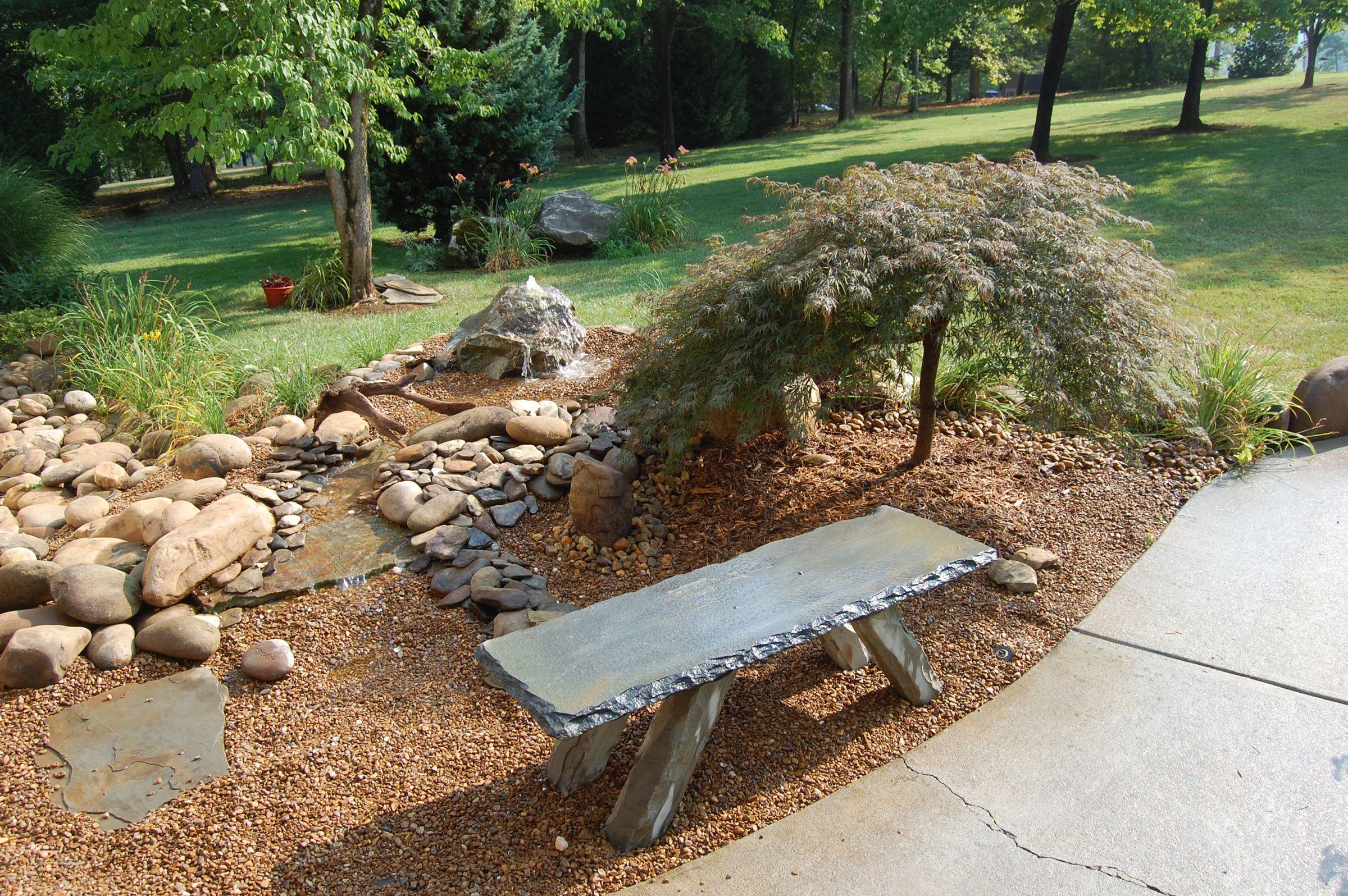 Zen Resting Memorial Bench Hand Carved