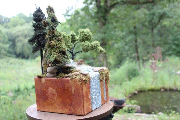 A Top cremation urn side
