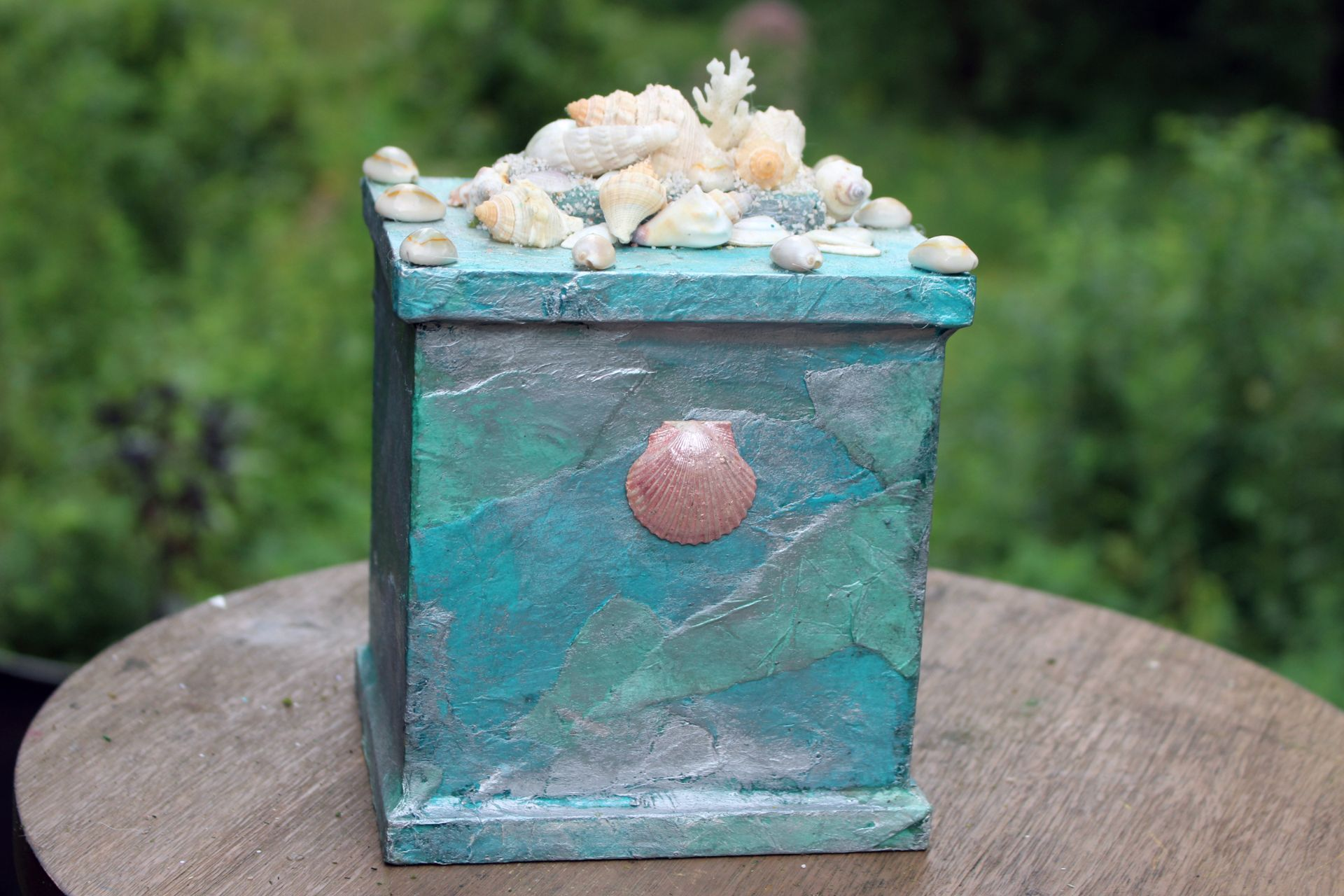 Ocean View Blue Cremation Urn