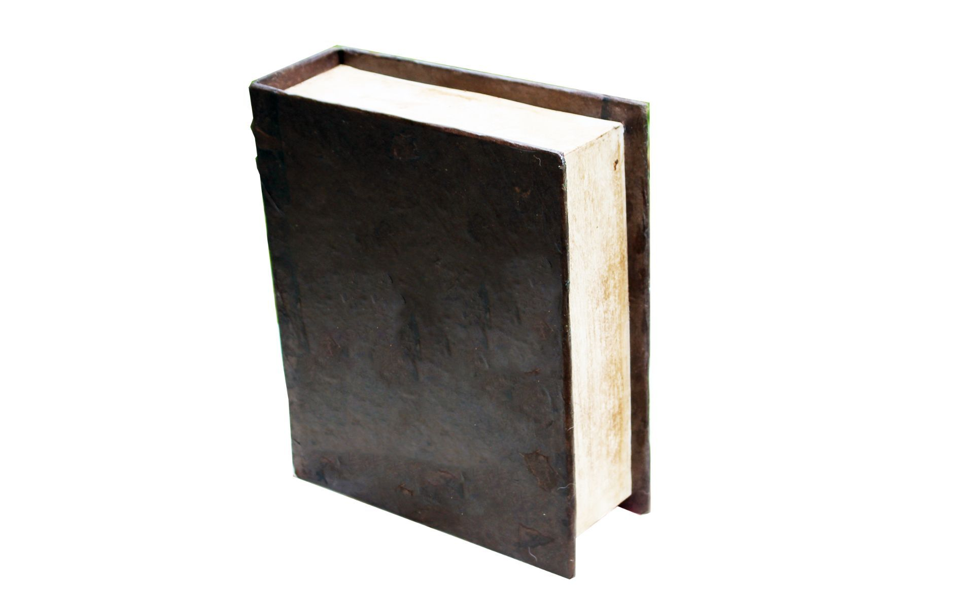 THE BOOK, a Full Size, Dark Brown, One of a Kind Cremation Art Urn for Human or Pet Ashes