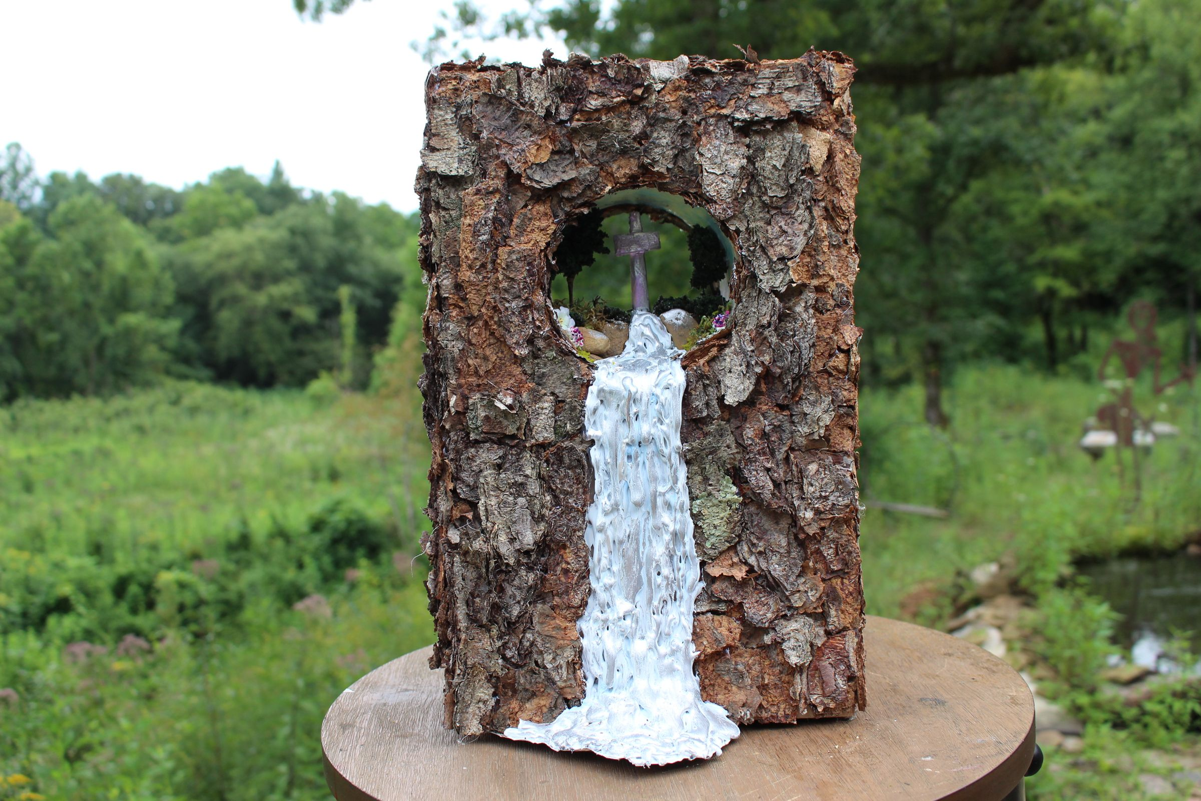 WOODLAND PASSAGE, a One of a Kind, Christian, Full Size Cremation Art Urn for Human or Pet Ashes