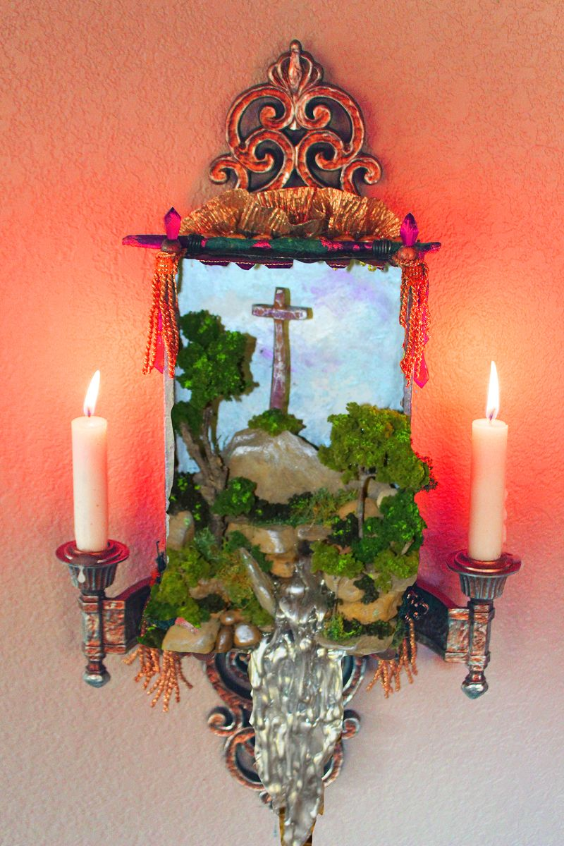 THE SHRINE, a Creatively Unique, Faith-based Small or Sharing Cremation Art Urn for Human or Pet Ashes