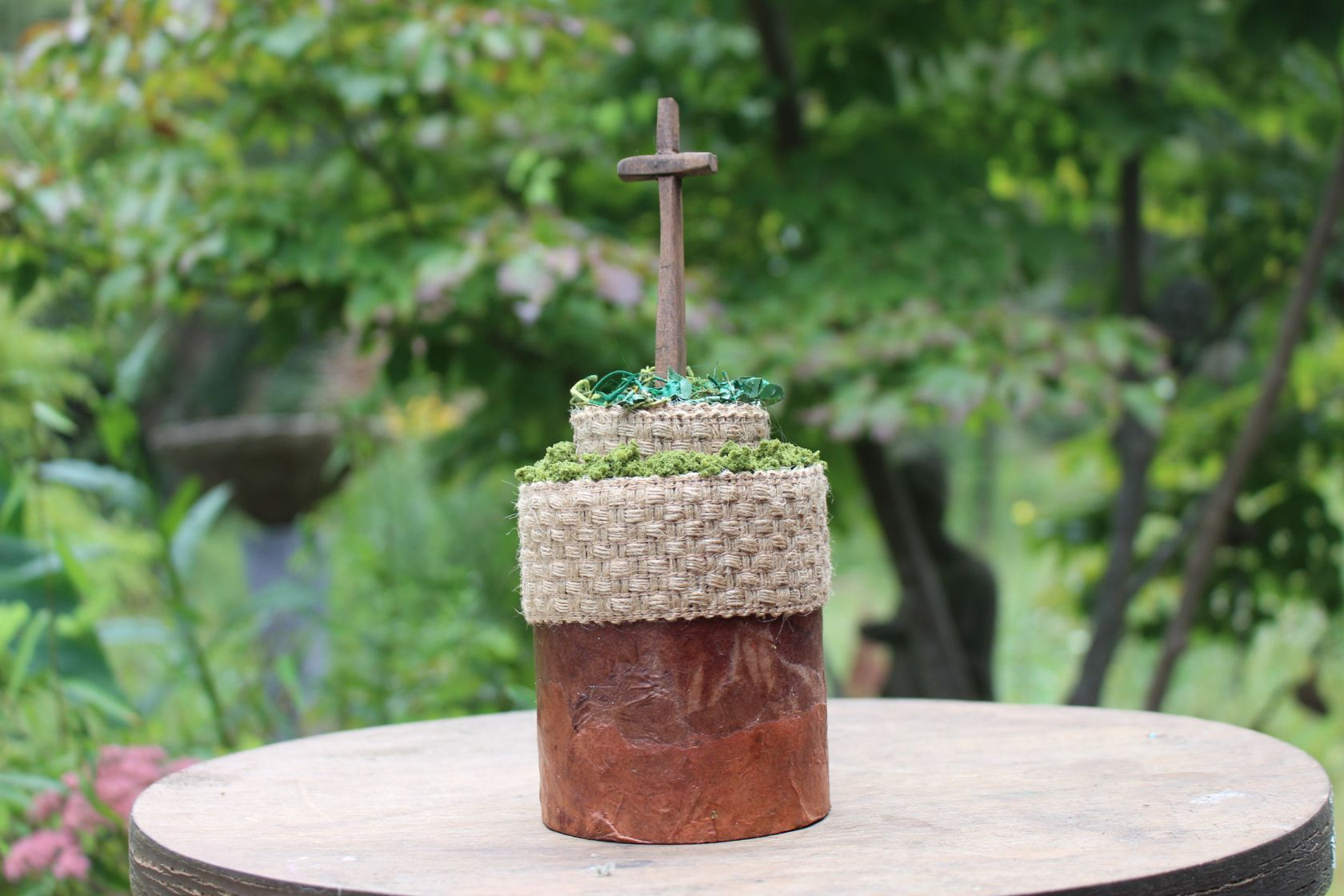 THE CROSS ON THE HILL, a One of a Kind, Faith-based Small or Sharing Urn for Human or Pet Ashes