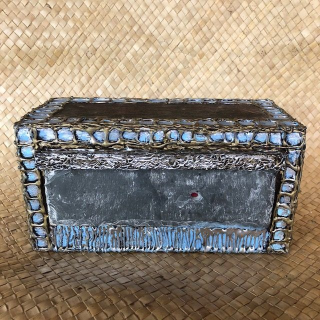 TREASURE CHEST, an Original, Full-Size, One of a Kind Cremation Art Urn for Adult Human or Pet Ashes