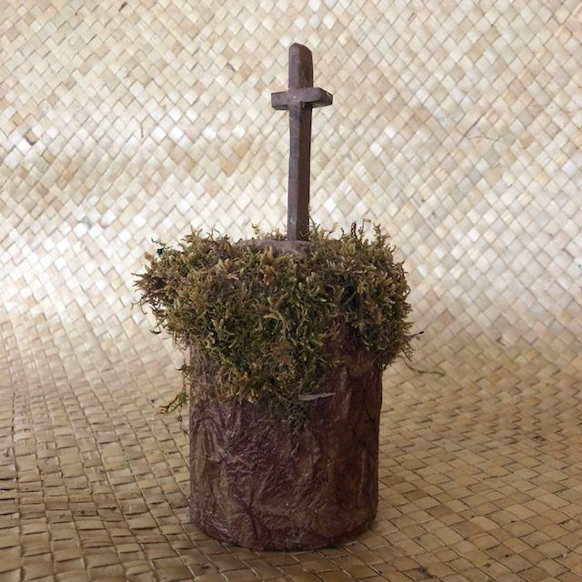 """THE CROSS-2,"" a Christian-oriented Small or Sharing Cremation Art Urn for Human or Pet Ashes"