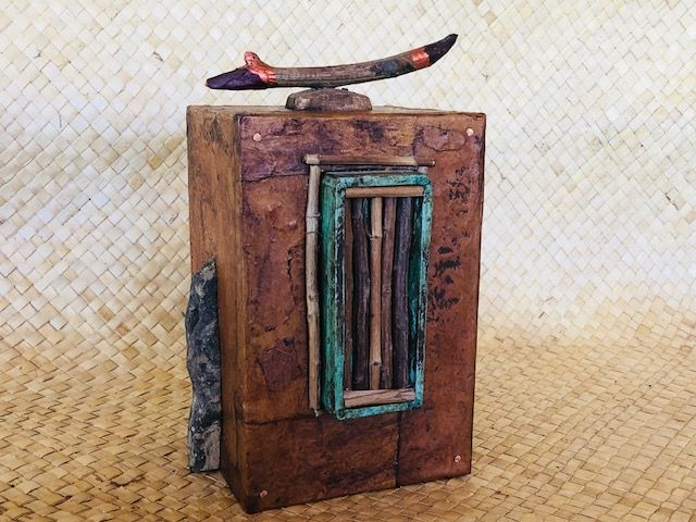 """""""ZEN REED,"""" a Unique, One of a Kind, Full-Size Cremation Art Urn for Adult Human Ashes"""