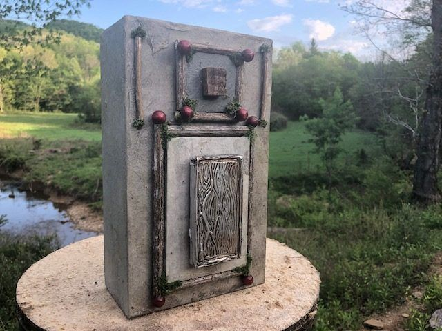 """ZEN DOOR,"" a Unique, Full-Size Cremation Art Urn for Adult Human Ashes"