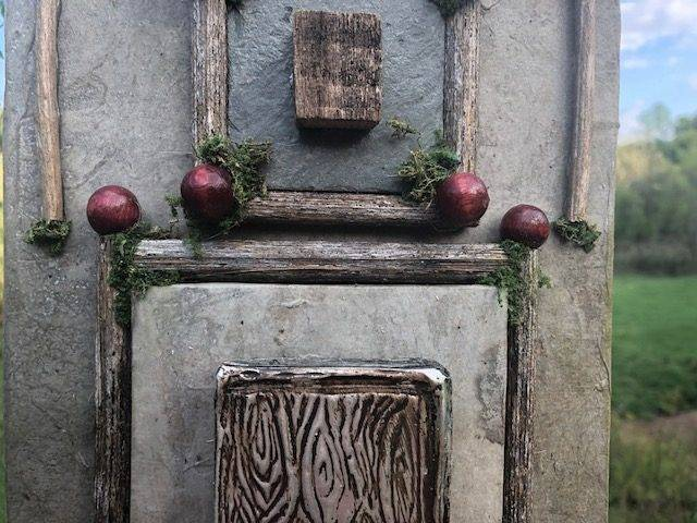 ZEN DOOR, a Uniquely Creative, Rustic, Full-Size Cremation Art Urn for Adult Human or Pet Ashes