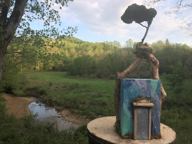 """The Bridge,"" an Original, Unique, Full-Size Handmade Cremation Art Urn for Adult Human Ashes"