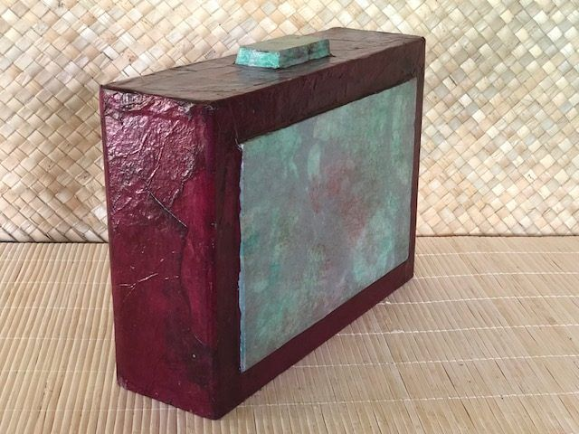 ZEN RED, a Unique, Full-Size Cremation Art Urn for Human or Pet Ashes
