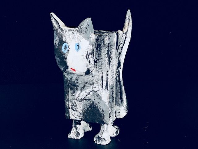 THE KITTY KAT, a Whimsical Cremation Art Urn for Pet Ashes