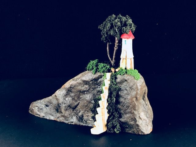 CANDY MOUNTAIN, a Whimsical, Keepsake or Sharing Cremation Art Urn for Human or Pet  Ashes