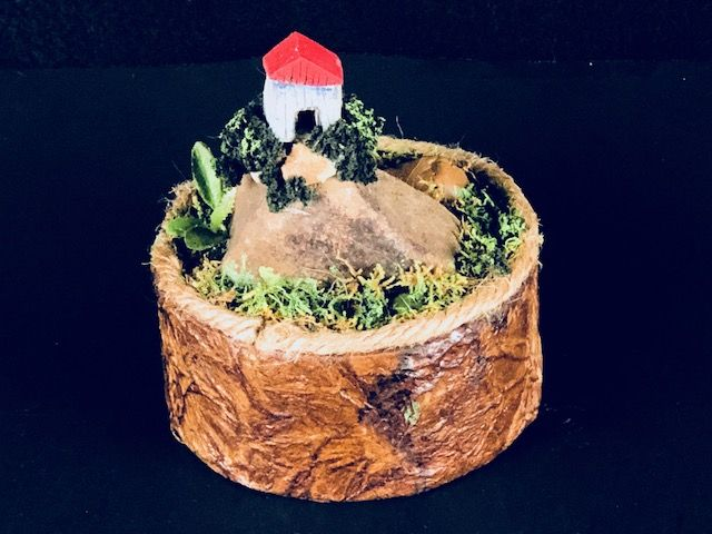 HIGH ON A HILL TOP, a Creatively Whimsical, One of a Kind, Small or Sharing Cremation Art Urn for Human or Pet Ashes