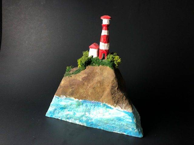 LIGHTHOUSE KEEPER, a Uniquely Creative ,  Hand Carved Cremation Art Urn for Human or Pet Ashes