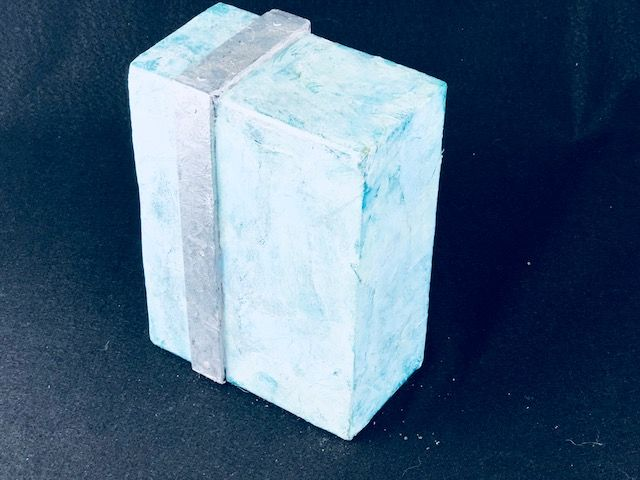 Silver Streak, a Unique, One of a Kind, Modern Cremation Art Urn for Human or Pet Ashes