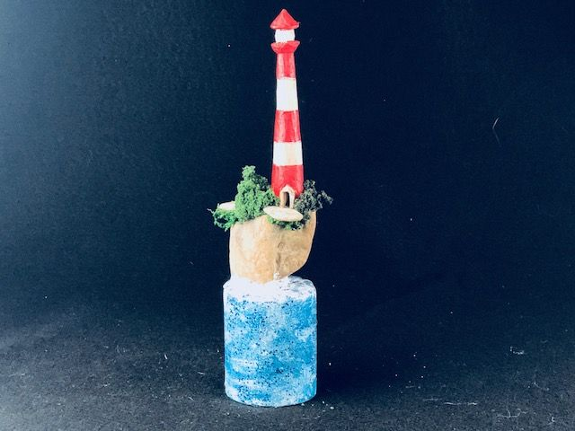 LIL LIGHTHOUSE, a One of a Kind Keepsake or Sharing Cremation Art Urn for Human or Small Pet Ashes