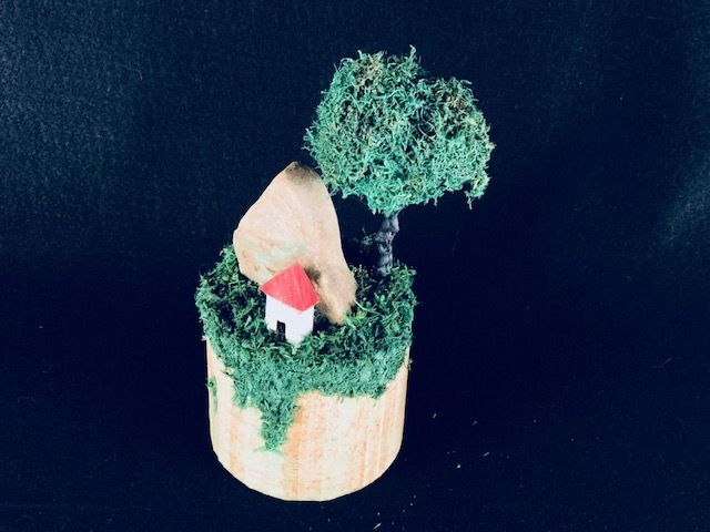 CABIN IN THE WOODS, a Uniquely Creative Keepsake or Sharing Cremation Art Urn for the Beloved Woodsman
