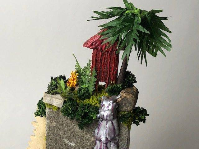 TROPICAL HIGH,  a One of a Kind Keepsake or Sharing Cremation Art Urn for Human or Pet Ashes