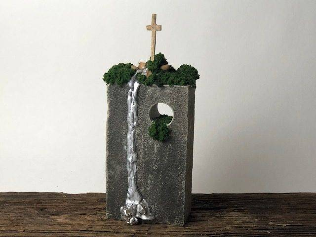 SAVED,  a Unique, Christian-oriented Keepsake or Sharing Urn for Human Ashes