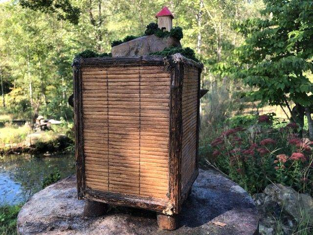 FORESTS GLEN, a One of a Kind, Full Size Cremation Art Urn for Human or Pet Ashes