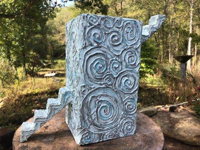 ASCENDING, a One of a Kind, Unique, Full Size Cremation Art Urn for Human or Pet Ashes