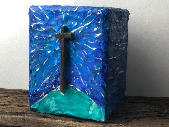 RISEN! A Beautiful, One of a Kind, Full Size Cremation Art Urn for Adult Human Ashes