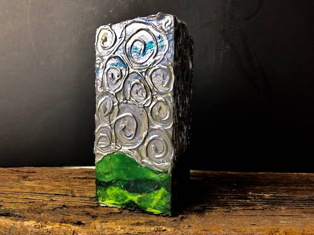 MOUNTAIN SWIRL, a Unique, Stone Keepsake or Sharing Cremation /art Urn for Human or Pet Ashes