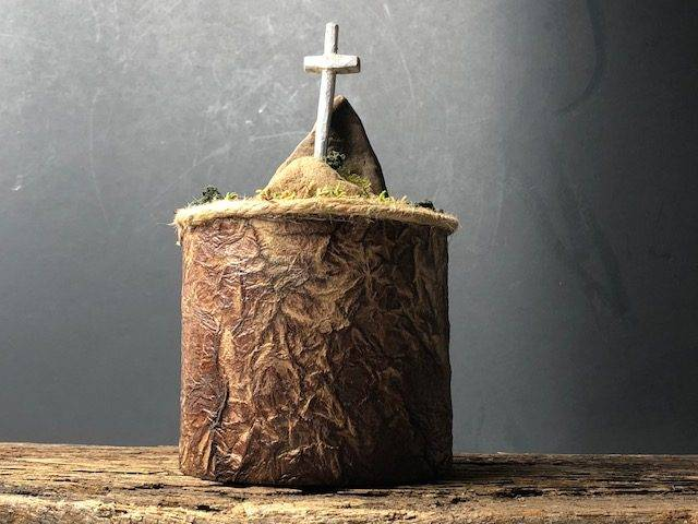 GRACE, a Unique, One of a Kind Small Cremation Art Urn for Human Ashes