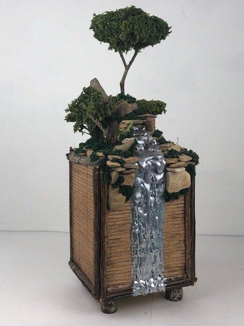 ROCKY MOUNTAIN, an Original, One of a Kind, Full Size Cremation Art Urn for Human or Pet Ashes