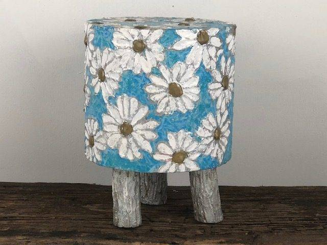 DAISY DEW, a Whimsical, One of a Kind, Full Size Cremation Art Urn for Human or Pet Ashes
