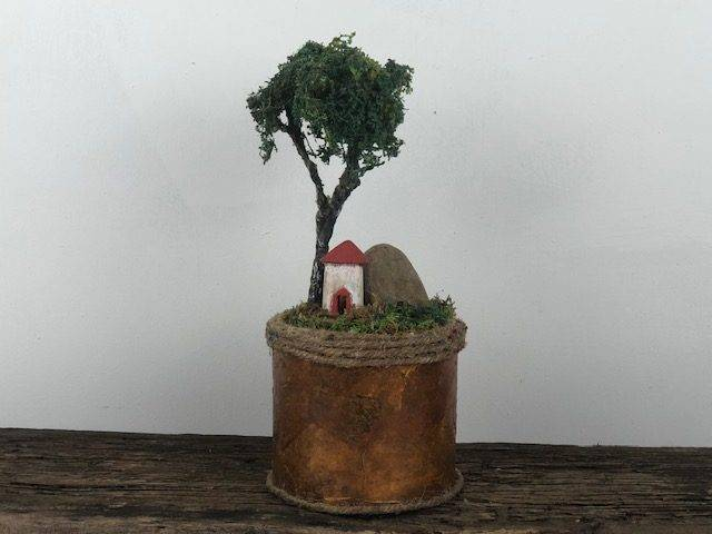 ON THE BLUFF, a One of a Kind, Small or Sharing Cremation Art Urn for Human or Pet Ashes