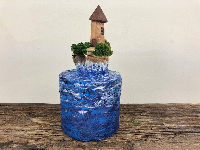 SPLASH, a Unique, One of a Kind Keepsake Cremation Art Urn for Human or Pet Ashes