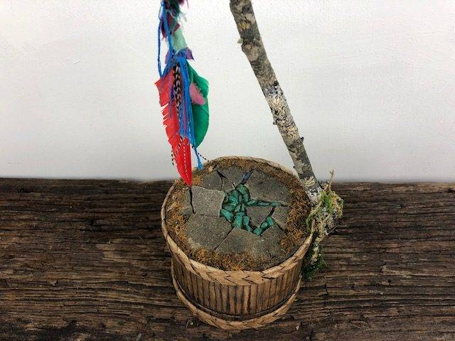 TOM TOM, a Unique, One of a Kind, Small Cremation Art Urn for Human or Pet Ashes