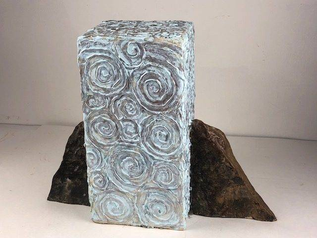 THE ROCK, a One of a Kind, Full Size Cremation Art Urn for Human or Pet Ashes
