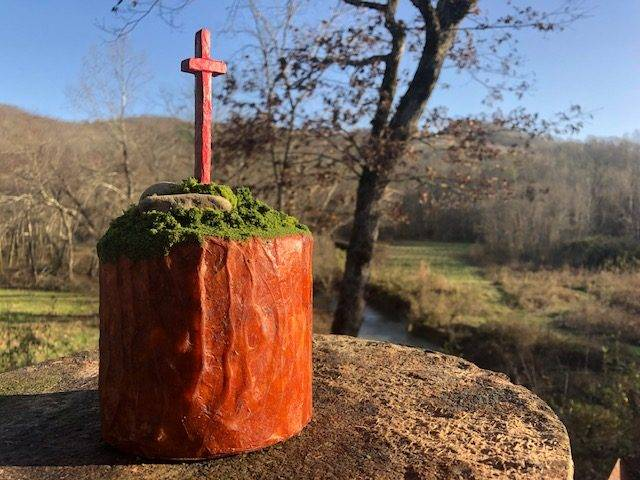 BELIEVE, a Christian-based, Unique, Small Cremation Art Urn for Human or Pet Ashes
