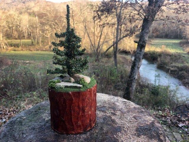 LONE PINE, a One of a Kind, Unique, Small or Sharing  Cremation Art Urn for  Human or Pet Ashes