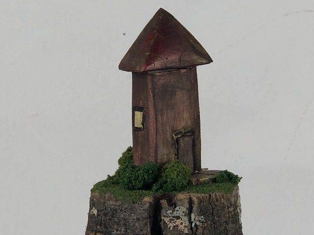 ISLAND HOME-2, a Unique Seaman's One of a Kind, Small Cremation Art Urn for Human or Pet Ashes