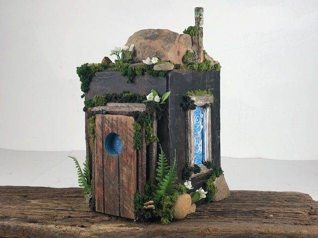 CABIN in the WOODS-2, a Full Size, Unique, One of a Kind Cremation Art Urn for Human or Pet Ashes