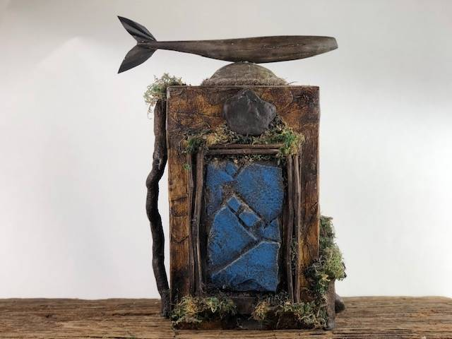 CREEK SIDE, a Full Size, Unique, One of a Kind Cremation Art Urn for Adult Human or Pet Ashes