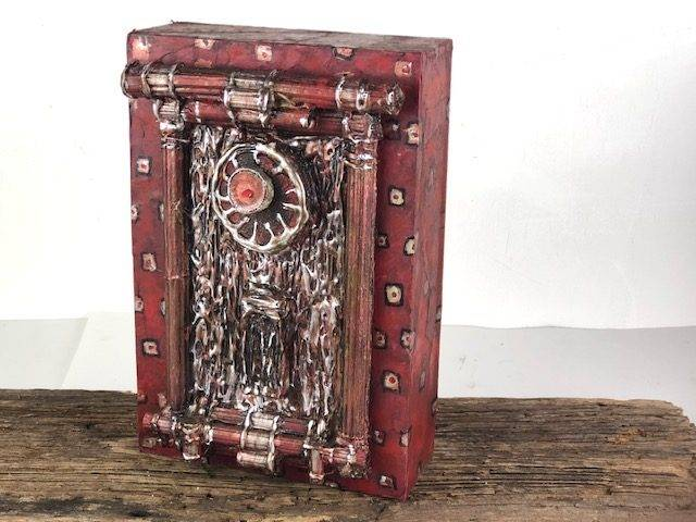 ZEN RED-2, a Unique, One of a Kind, Full Size Cremation Art Urn for Adult Human or Pet Ashes
