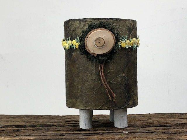 THE WOODS-2, a Rustic Uniquely Creative, One of a Kind Small or Sharing Cremation Art Urn for Human or Pet Ashes