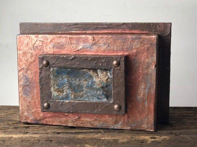 COPPER HAZE, a Unique, One of a Kind, Full Size Cremation Art Urn for Human or Pet Ashes