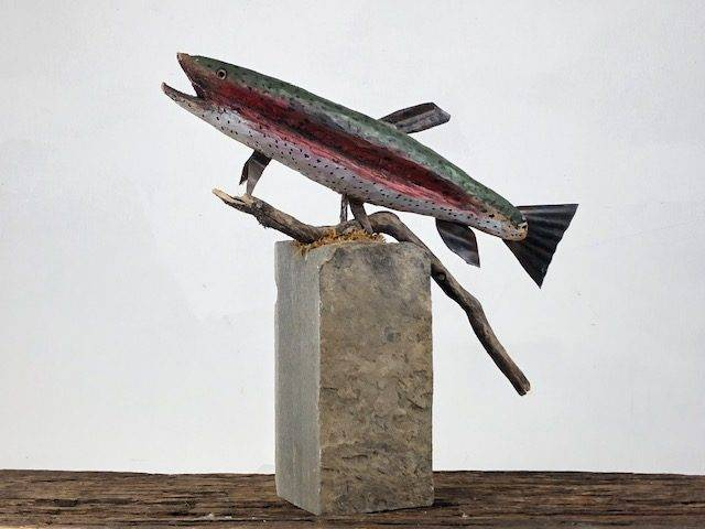 ANGLER'S PRIZE, a Beautiful, Unique, One of a Kind Cremation Art Keepsake or Sharing Urn for Human Ashes