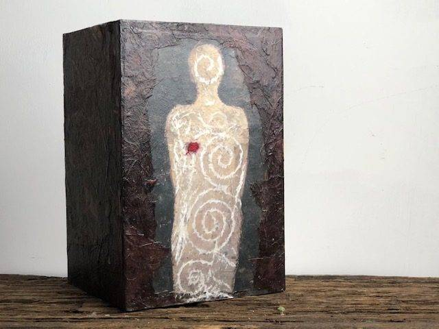 HEALING, a Unique, One of a Kind, Full Size Cremation Art Urn for Adult Human Ashes