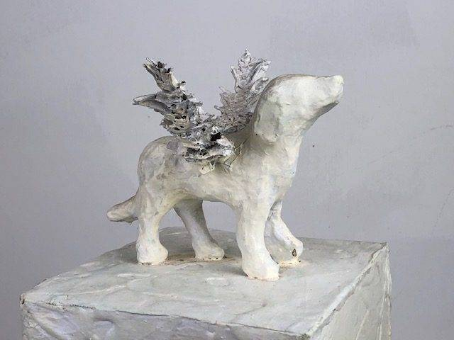 ANGEL PUPPY, a Unique, One of a Kind Cremation Art Urn for Man's, or Woman's, Best Friend