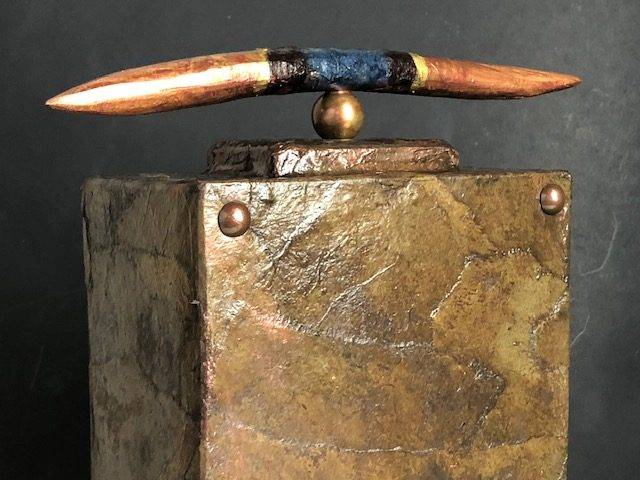 ZEN BRONZE,  a One of a Kind, Handmade, Full Size Cremation Urn for Human or Pet Ashes