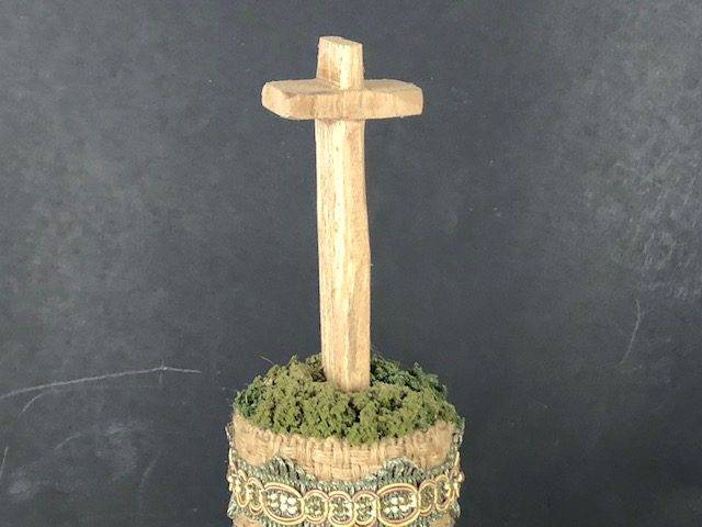 JOY, a Unique, One of a Kind, Christian-oriented Small Cremation Art Urn for Human or Pet Ashes