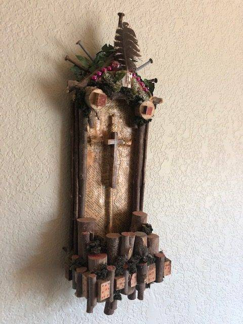 ALTAR in the WOODS, a Unique, One of a Kind, Rustic, Christian-oriented Shrine